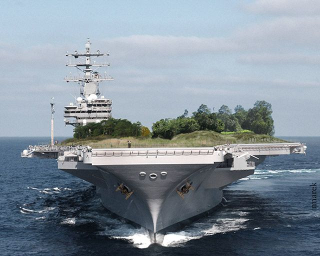 Reconversion du porte-avion Eisenhower